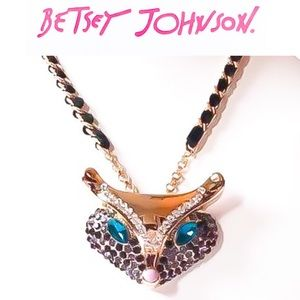 Betsey Johnson Fox Face Necklace